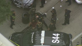 Police chase end in arrest in downtown Houston