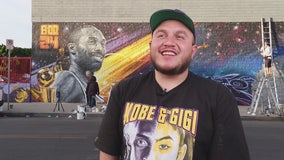 Jenni Rivera's son channels his pain into a beautiful Kobe mural