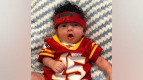 Kansas City hospital babies dressed as Chiefs players ahead of Super Bowl