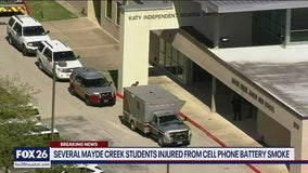 Mayde Creek Jr. High students treated for smoke inhalation after phone battery begins smoking