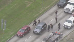 Police chase in Houston area