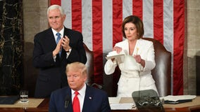Dems demand platforms take down edited video of Pelosi ripping up speech posted by Trump