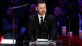 'This is a sad day': Jimmy Kimmel breaks down in tears at opening of Kobe, Gianna Bryant memorial