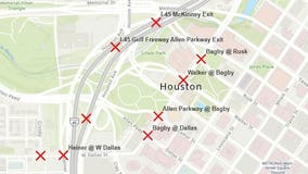 Road closures for the Houston Livestock Show & Rodeo Ride, Run and Parade