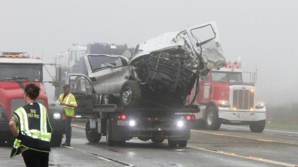 Four people dead in three-vehicle crash in Dayton, Texas