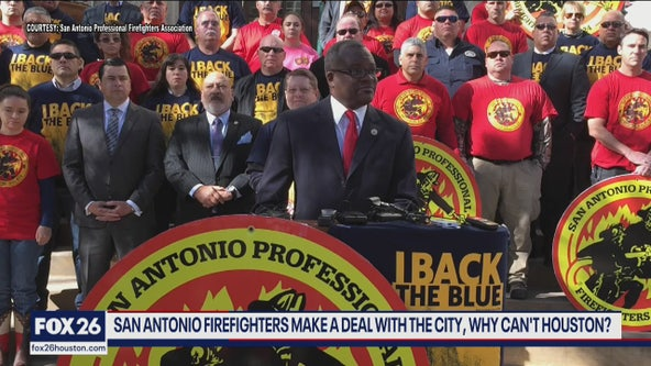 San Antonio reaches a firefighter agreement can Houston. . .  What's Your Point?