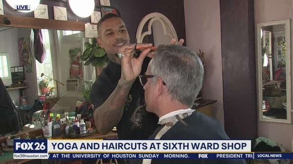 Yoga and haircuts at Sixth Ward shop