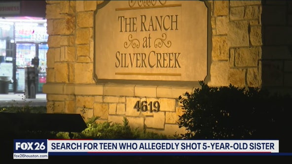 Police search for Houston teen accused of shooting his 5-year-old sister