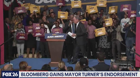 Bloomberg in Texas, gains Mayor Turner endorsement- What's Your Point?