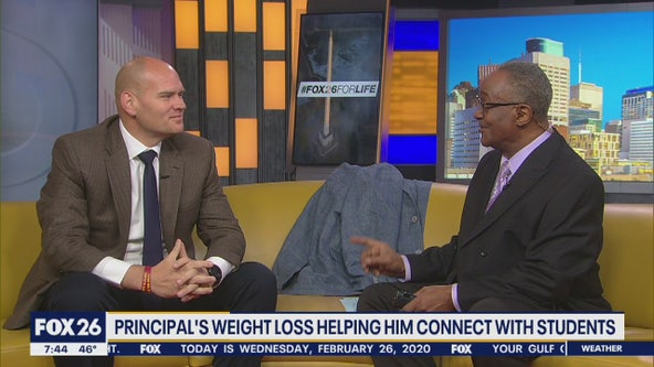 Aldine ISD principal's weight loss helping him connect with students