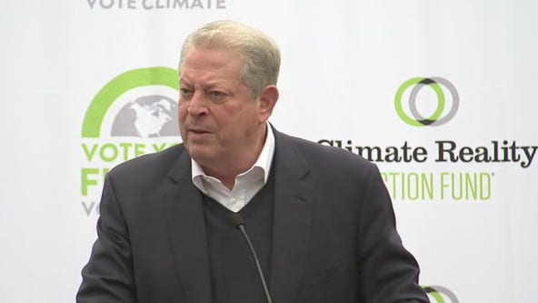 Former Vice President Al Gore addresses climate-conscious Texans in Houston