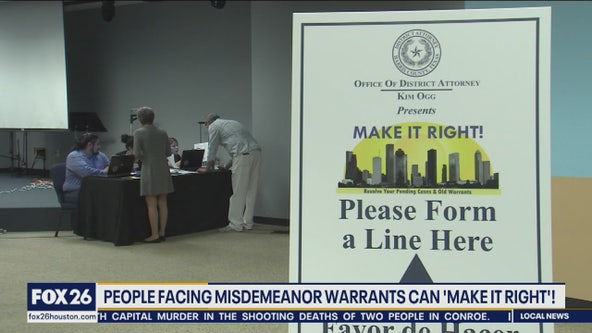 People facing misdemeanor warrants can 'Make it Right'