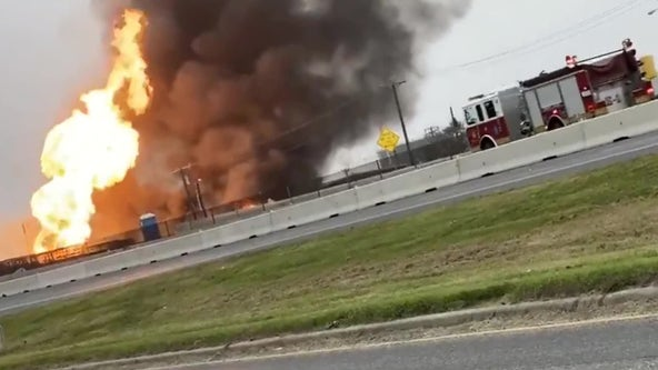 Fire erupts after gas line rupture in Corpus Christi