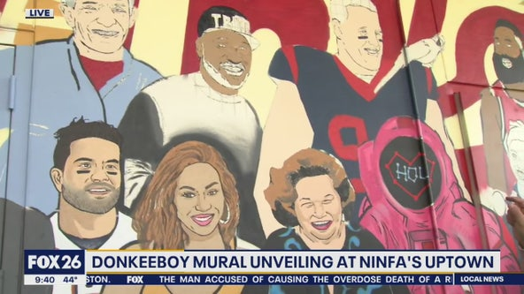 Donkeeboy mural unveiling at Ninfa's Uptown