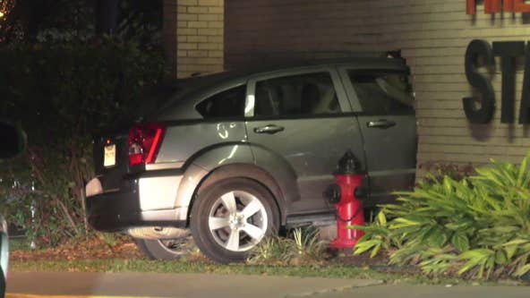 Driver charged with DWI after crashing into Houston fire station