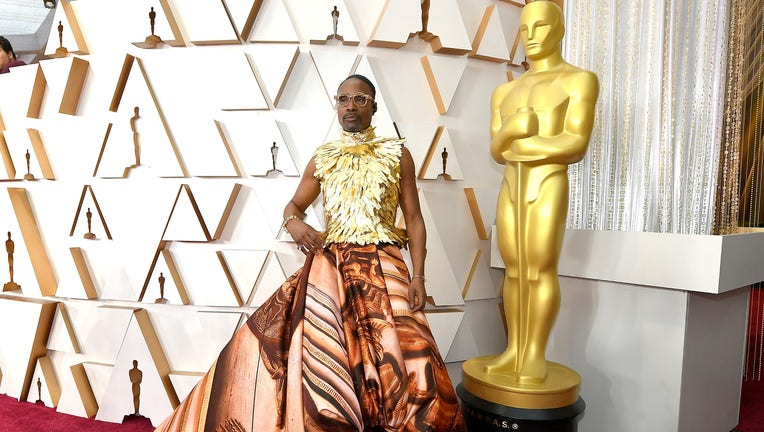 Billy Porter stuns in gold gown at Oscars