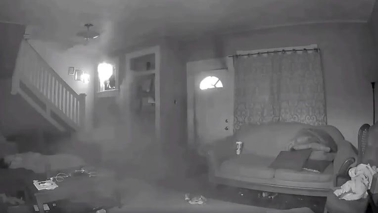 KSAZ child sleeps during fire