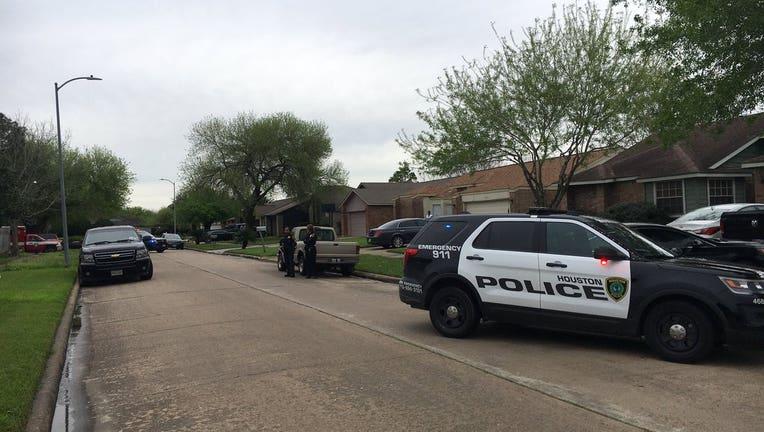 SWAT scene in southwest Houston near Ridgegate Elementary