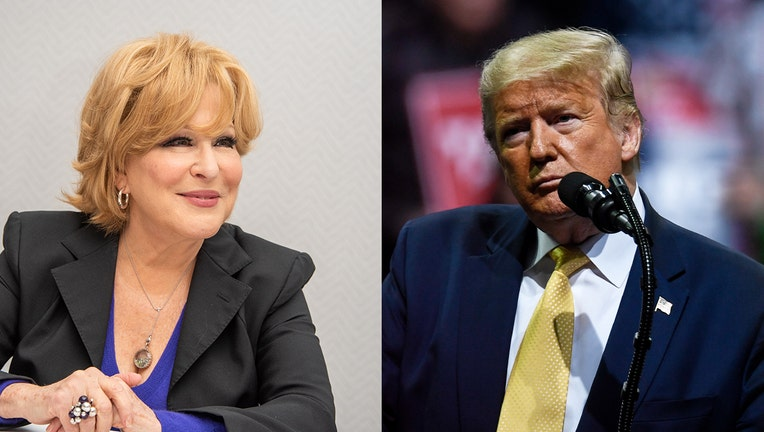 President Trump and Bette Midler