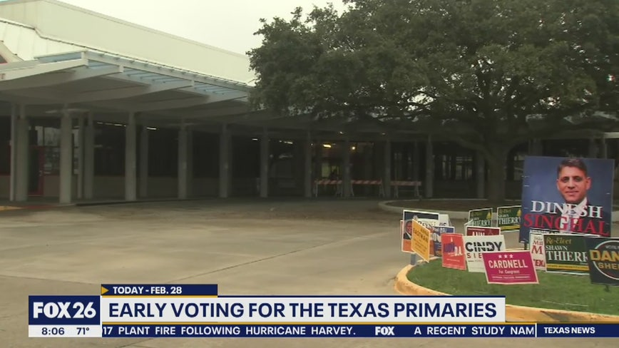 Early voting for the Texas primaries