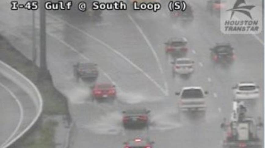 High-water locations on Houston roadways during Monday morning rain