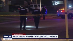 Man and child hit by car in Cypress