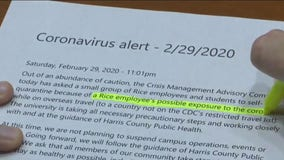 Coronavirus alert issued at Rice University now worrying students on campus