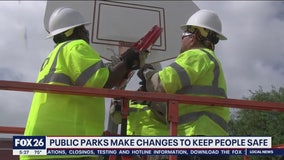 Houston removes basketball rims at parks to enforce social distancing