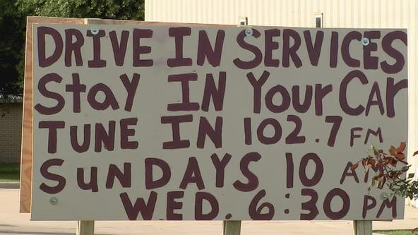 Church holds drive-in service for congregation during pandemic