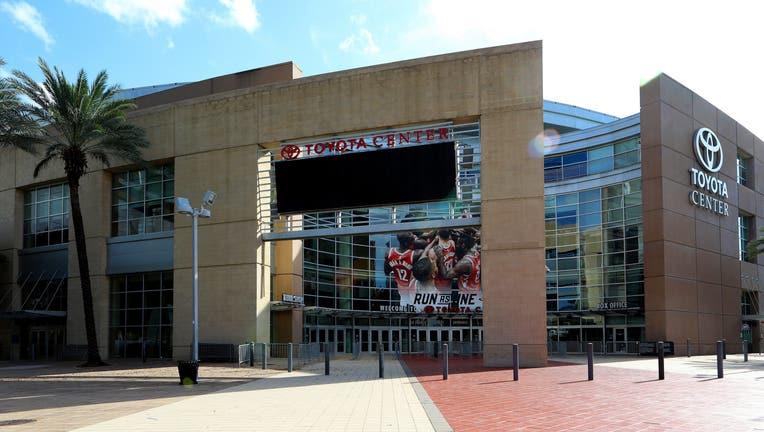 FILE PHOTO. Toyota Center, home of the Houston Rockets basketball team in Houston, Texas on November 6, 2017.