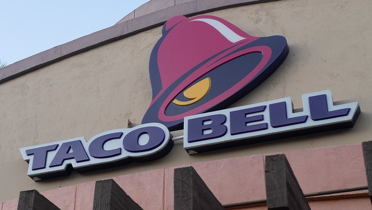 FILE - Taco Bell logo is seen in Mountain View, California