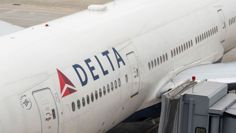A Delta Airlines plane is shown in a file photo. (Photo by Alex Tai/SOPA Images/LightRocket via Getty Images)