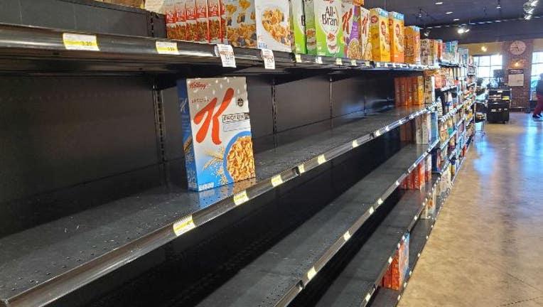 minnesota grocery store empty shelves