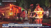 Mother and 3 children escape house fire in northeast Houston