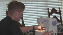 Local Eagle Scout and student athlete sews masks for first responders