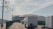 Makeshift hospital being built outside NRG Stadium