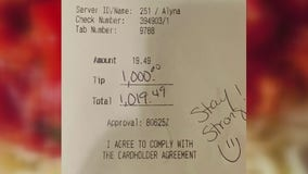 Cavatore Italian Restaurant customer leaves $1,000 tip with takeout order