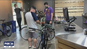 Bicycle shops see brisk business during coronavirus shutdown
