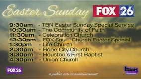 FOX 26/My 20 to air Easter Sunday church services