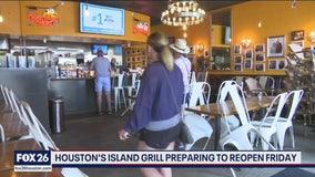 Restaurants prep for reopening Friday