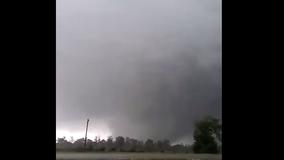 VIDEO: Tornado spotted moving through Seven Oaks, TX
