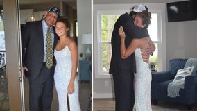 After her senior prom was canceled, Alabama father surprises daughter with 'one dance' at home