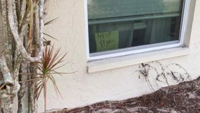 Florida girl put 'Help! Get Me Out of Here' sign on window because she was struggling with homework