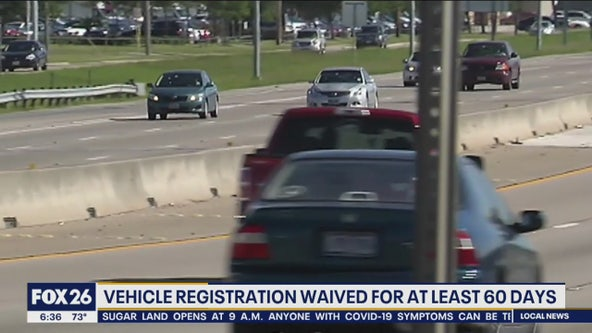Texas allows for extension on car registration