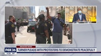 Houston Mayor Sylvester Turner pleads for peaceful protest