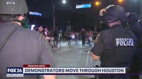 Crowd size decreased on day two of Houston protests