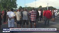 Third Ward residents honor George Floyd with vigil