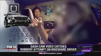 Dash cam video catches robbery attempt on Rideshare driver