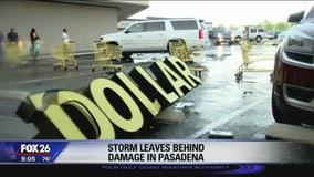 Storm leaves behind damage in Pasadena