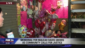Memorial for Maleah Davis grows as community calls for justice
